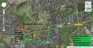 Treffpunkt an der Rungenberghalde / Wegbeschreibung zum Treffpunkt für die Rungenberg-Lamawanderung