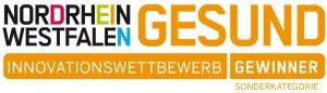 """Auszeichnung """"Dein NRW Gesund"""" des Landes NRW Gewinner-Logo, Sonderkategorie """"Originalität"""" 2014"""
