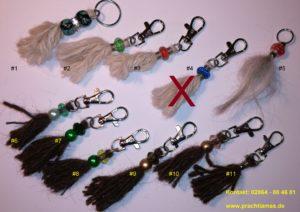 Schlüsselanhänger aus Lamawolle von Dancer und Hannibal von Prachtlamas