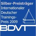 Internationaler Deutscher Trainingspreis in Silber für Stressbewältigungstraining mit Lamas