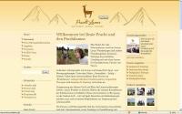 als Vergleich hier die alte Homepage von Prachtlamas
