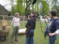 Inhaberin Beate Pracht im Interview mit Spiegel TV Fernsehteam