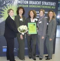Das Team von MitMensch war derVergleichspartner der Preisträgerinnen von Prachtlamas