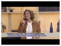 Ausgefallene Berufe: Lama-Expertin, Diplom Sportwissenschaftlerin Beate Pracht im Center TV- Interview
