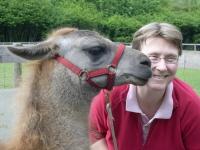 Lamas hautnah hier Andrea Eikelmann mit Caruso