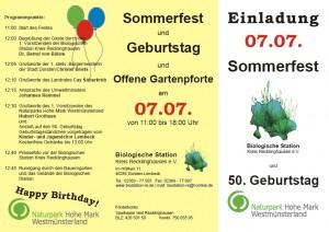 Sommerfest Biologische Station und Jubiläum Naturpark Hohe Mark Westmünsterland am 7.7.2013