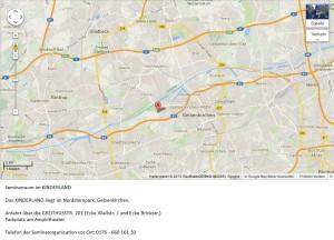 Übersichtsplan für das HeartMath®- / HerzIntelligenz®-Seminar im Kinderland im Nordsternpark in Gelsenkirchen_mit Anschrift