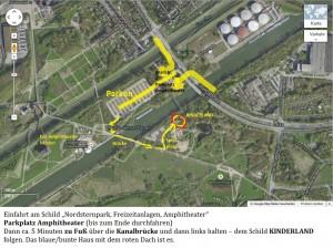 Detailplan für das HeartMath®- / HerzIntelligenz®-Seminar im Kinderland im Nordsternpark in Gelsenkirchen_mit Wegbeschreibung, Parkplatz