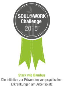 """Auszeichnung """"Soulatwork-Challange""""-Award für ihr Präventionsprogramm für psychische Gesundheit am Arbeitsplatz für Beate Pracht 2015"""
