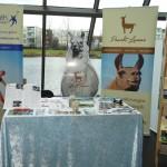 Unser Stand auf der Wohlfühlmesse Gelsenkirchen (Prachtlamas). Vortrag von Beate Pracht um 14 Uhr über