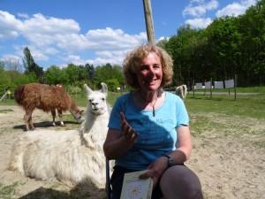 Sommer-Lesung zwischen Tieren: mit Lama-Erlebniszwischen Lamas_Lesung mit Beate Pracht 24 Juni in Gelsenkirchen