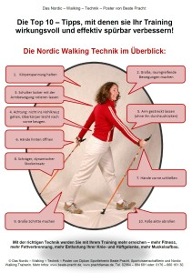 Nordic Walking Technik Poster_Copyright Beate Pracht