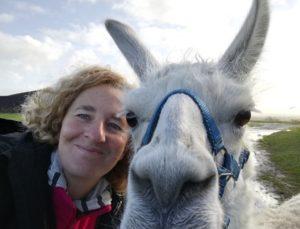 Selfie mit Lama Dancer; Lamawanderung auf die Anden des Ruhrgebiets, WDR Lust auf Wandern