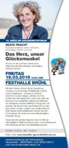Beate Pracht live beim Brühler Gesundheitsforum 2018 (Baden Württemberg)